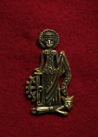 m82 Medieval piligrim badge