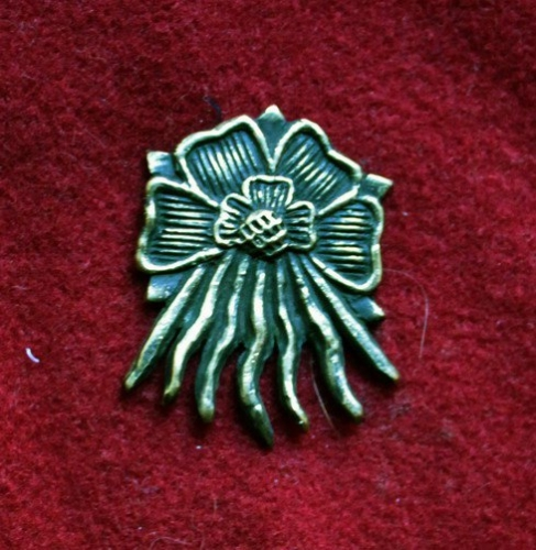 m87 Medieval piligrim badge