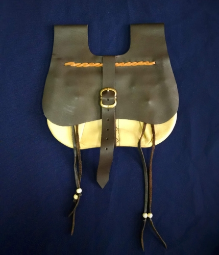 LL03 Medieval leather pouch 15c.