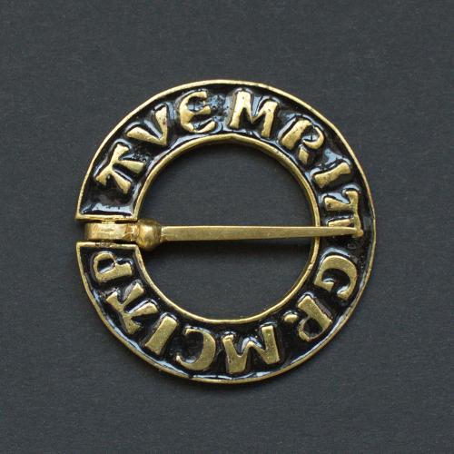 Medieval ring brooch with black enamel, Netherlands