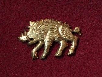 "M51 ""Boar"" Medieval piligrim badge"