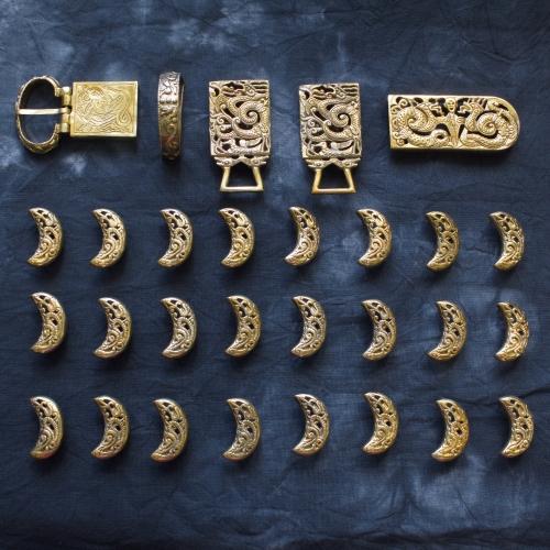 Belt set from Krasny Yar, Golden Horde