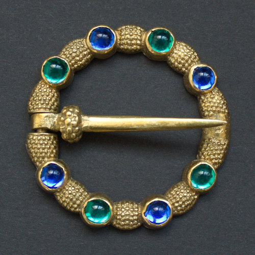 Medieval ring brooch with gems, England
