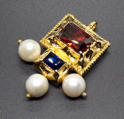 Italian medieval brooch-pendant ea56