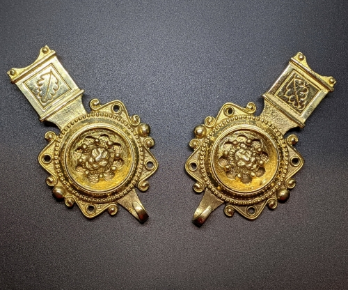 Medieval female belt strapends, Germany EX86