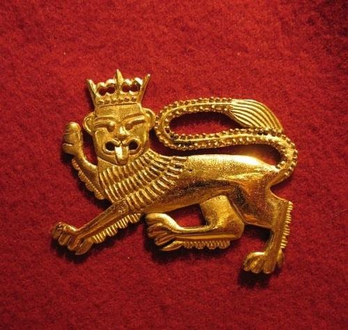 "M15 ""Lion"" medieval piligrim badge"