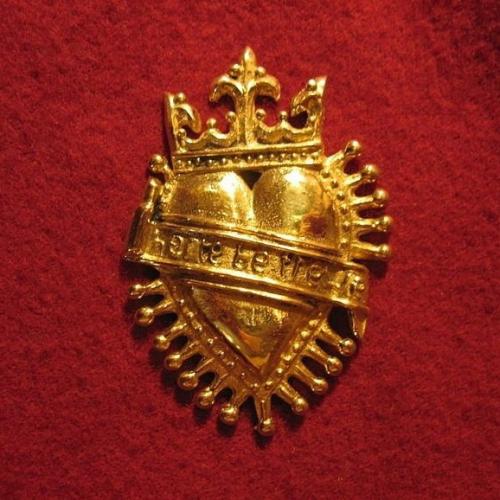 "M17 ""Crowned Heart"" medieval piligrim badge"