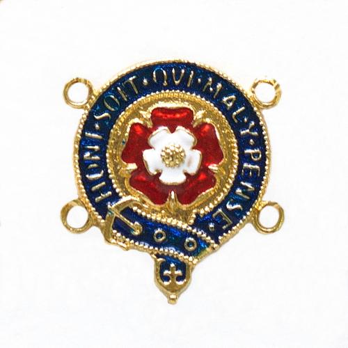 Enamelled medallion link from the Order of the Garter