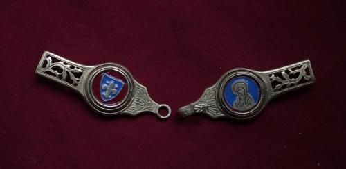 Medieval female belt strapends, France EX87