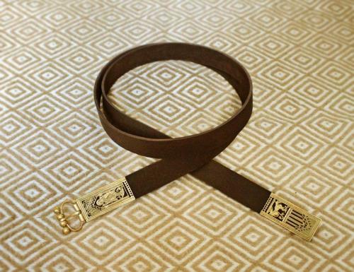 Medieval Leather belt,  Northern Europe EBS13