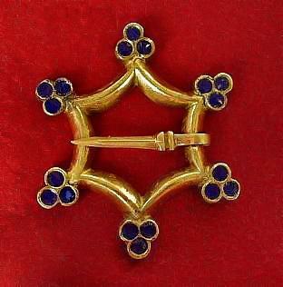 Medieval brooch with enamel, Europe EA11E