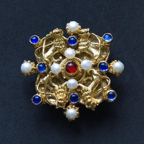 Lion medieval brooch, Germany EA23
