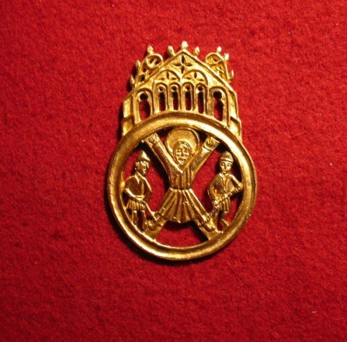 "M37 ""St. Andrew"" medieval piligrim badge"