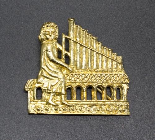 m72 Medieval piligrim badge