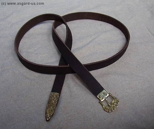Scandinavian leather belt from Birka RBS02