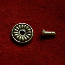 Cast rosette with rivet  tn14