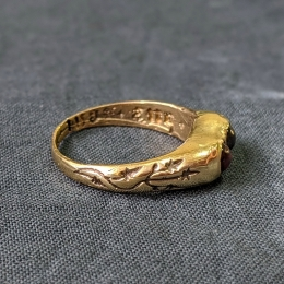 Medieval ring with two gems ER13