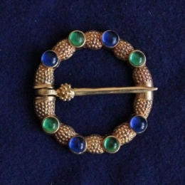 Medieval ring brooch with gems, England EA28 by ArmourAndCastings