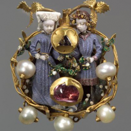 "Burgundian ""Love brooch"", 15th century"