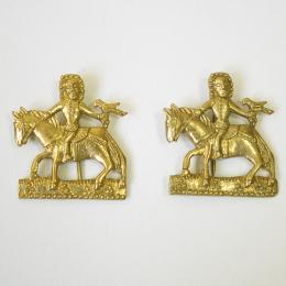 "2 x M42 ""Falconry"" medieval pilgrim badge"