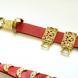 Mongol-Tatar Leather belt from  Krasny Yar, 13 c.
