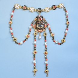 Jewelry set from the portrait of Elisabeth of Austria