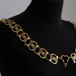 Collar of Esses. Medieval enamelled chain (collar) of S-shaped links