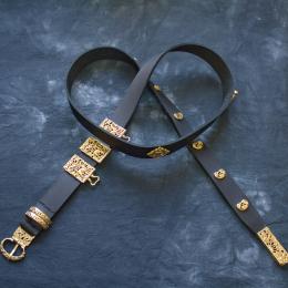 Mongol-Tatar Leather belt from Gashun Usta