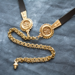 Medieval leather belt  from Germany EBD01