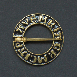 Medieval ring brooch with black enamel, Netherlands
