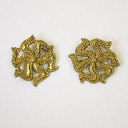 2 x  m88 Medieval pilgrim badge