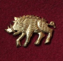 "M51 ""Boar"" Medieval piligrim badge"