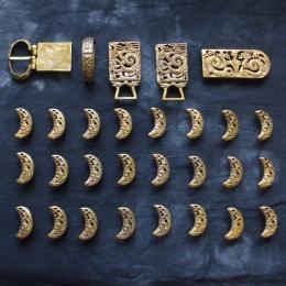Belt set from Krasniy Yar, Golden Horde