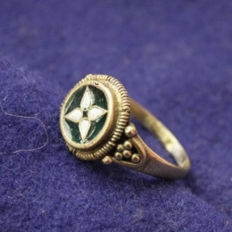 Early medieval ring with enamel