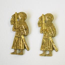 2 x m78 Medieval pilgrim badge