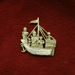 "m56 ""Ship"" Medieval piligrim badge"