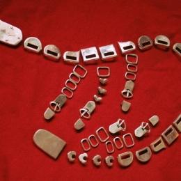 Mongolian belt from Balyk-Sook, full set