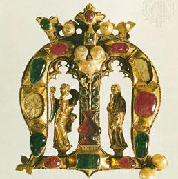 Founder's jewel brooch, 14th cent.