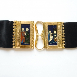 Burgundian medieval belt with enamel, 15th cent.