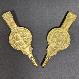 Medieval female belt strapends, Germany EX49