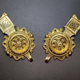 Medieval female belt strapends, Germany EX25