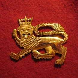 "M15 ""Lion"" medieval piligrim badge"
