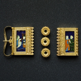 Burgundian belt set with enamel