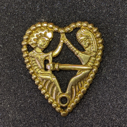 "Medieval brooch ""Tristan and Isolde"", Europe EA09"