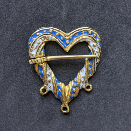 Medieval heart shaped brooch with enamel EA07E