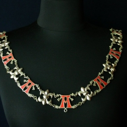 "A luxurious knight's collar with letter ""A"""