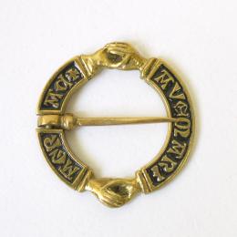 Medieval Fede brooch witn enamel, Europe EA05E(stock)