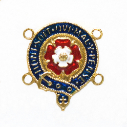 Enamelled medallion link from the Order of the Garter