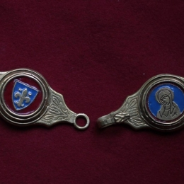 Medieval female belt strapends, France EX23