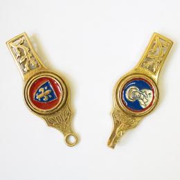 Medieval female belt strapends, France EX87 (stock)
